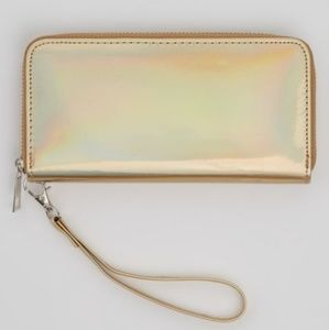 🌟GOLDEN HOLOGRAPHIC WALLET/WRISTLET